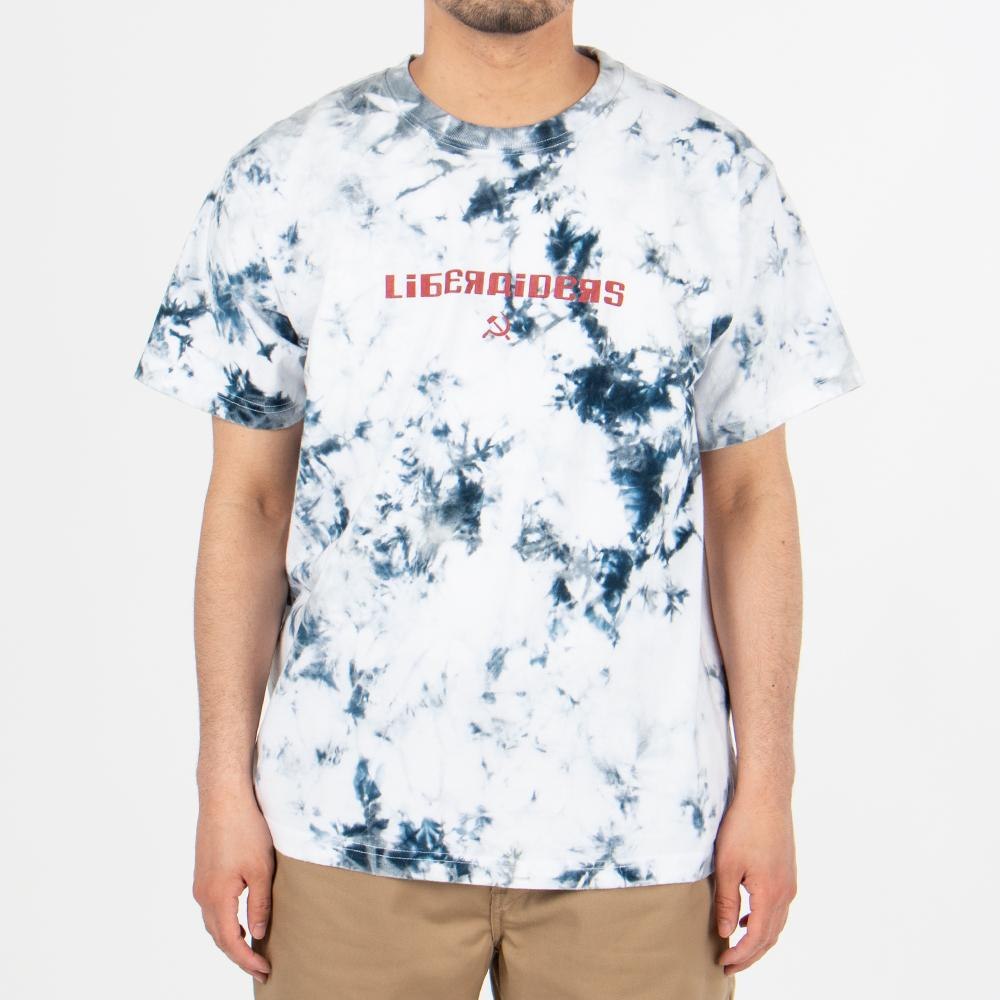 71601S19 Liberaiders Acid Dyed Logo T-shirt / White
