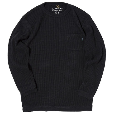MANASTASH SNUG HEMP WAFFLE THERMAL / BLACK - 1