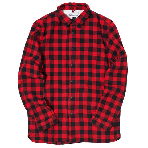 MANASTASH LUMBER FLANNEL SHIRT JACKET / RED - 1