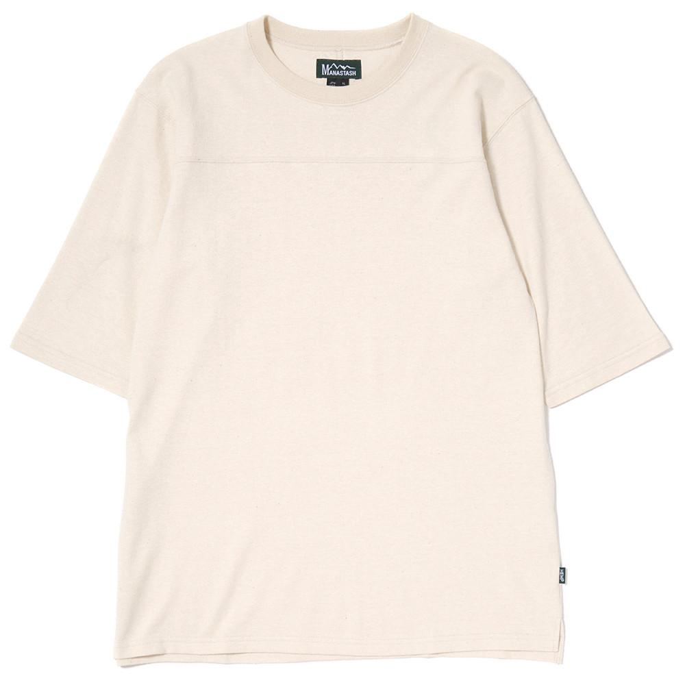 MANASTASH HEMP HALF SLEEVE FOOTBALL T-SHIRT / KINARI