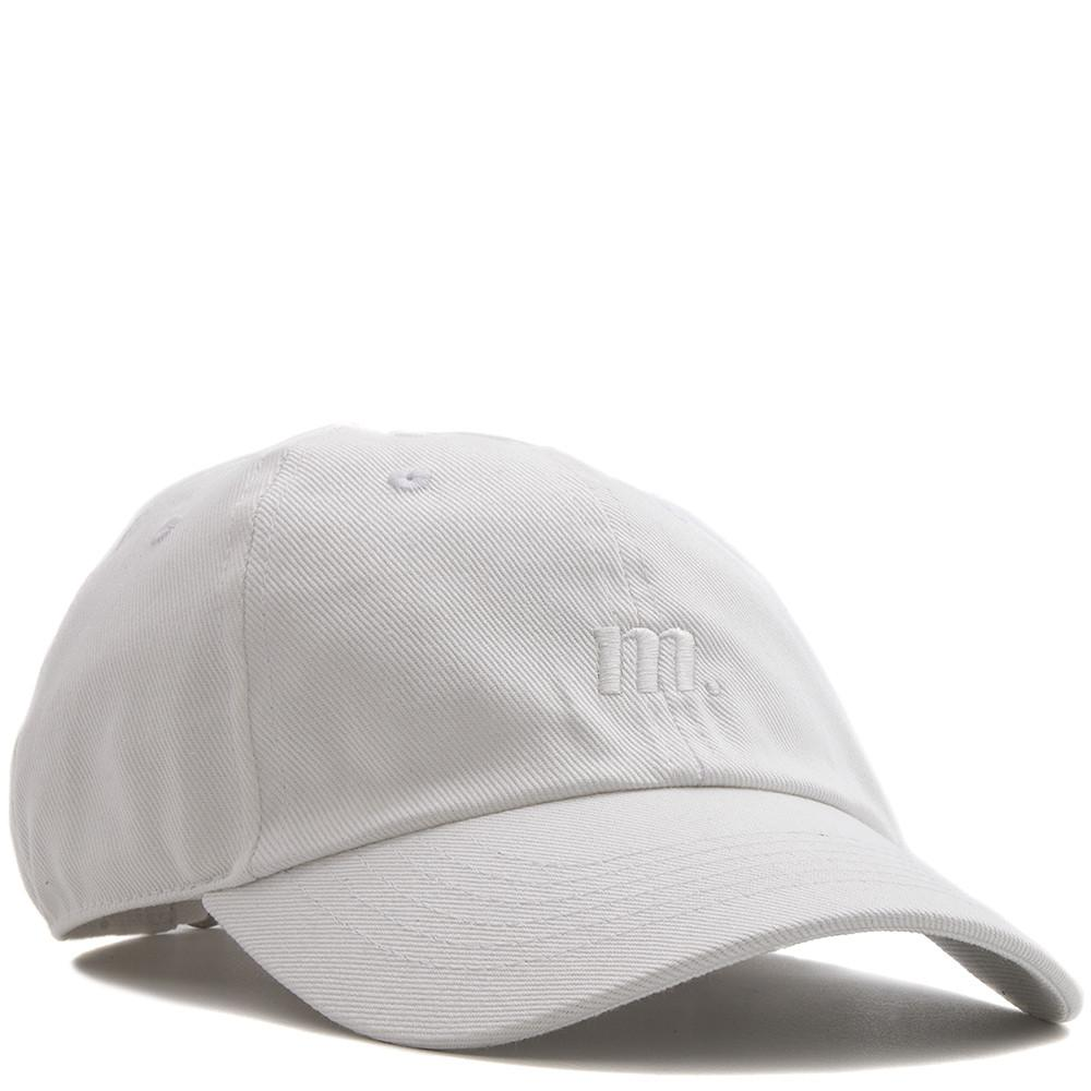 style code 7179083WHT. MANASTASH UNCLE'S GARMENT DYED HEMP TWILL CAP / WHITE