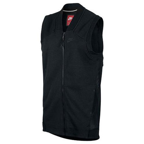 NIKE WOMEN'S TECH FLEECE COCOON MESH VEST / BLACK - 1