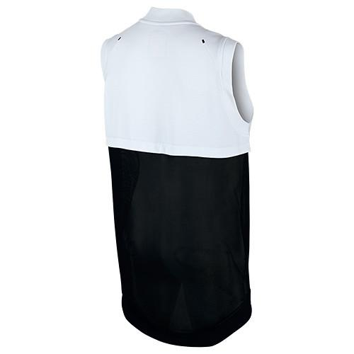NIKE WOMEN'S TECH FLEECE COCOON MESH VEST / WHITE - 2
