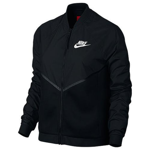 NIKE WOMEN'S TECH HYPERMESH BOMBER / BLACK - 1