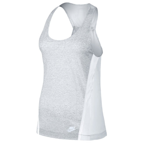 NIKE WOMEN'S BONDED TANK / BIRCH HEATHER - 1