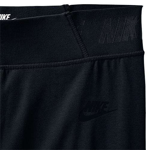NIKE WOMEN'S BONDED MESH TIGHTS BLACK / BLACK - 3