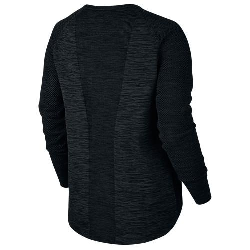 NIKE WOMEN'S TECH KNIT CREWNECK / BLACK - 2