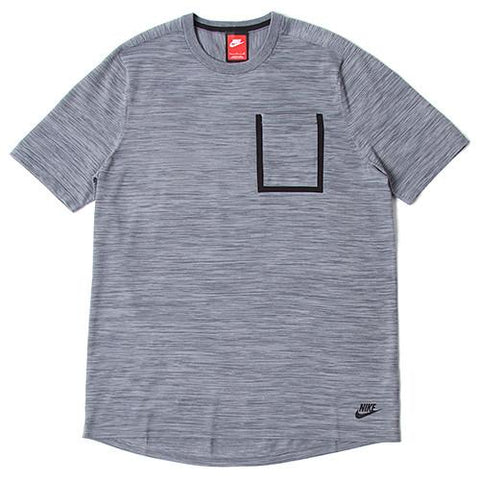 NIKE TECH KNIT POCKET T-SHIRT COOL GREY / DARK GREY - 1