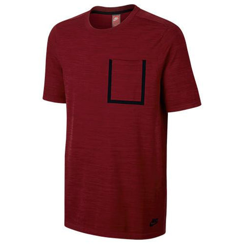 NIKE SPORTSWEAR TECH KNIT TOP / TEAM RED - 1
