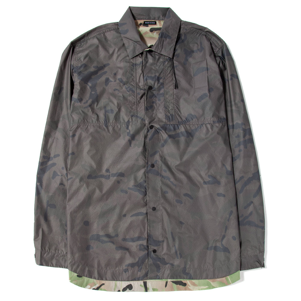 7310S19 Maharishi Camo Tech Reversible Travel Shirt / Charcoal Coated DPM