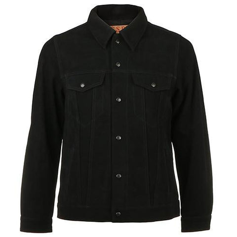 FUCT SSDD SUEDE TRUCKER JACKET / BLACK - 1