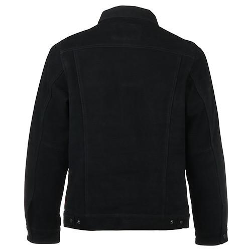 FUCT SSDD SUEDE TRUCKER JACKET / BLACK - 2