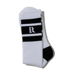 Liberaiders LR Logo Socks White / Black - Deadstock.ca