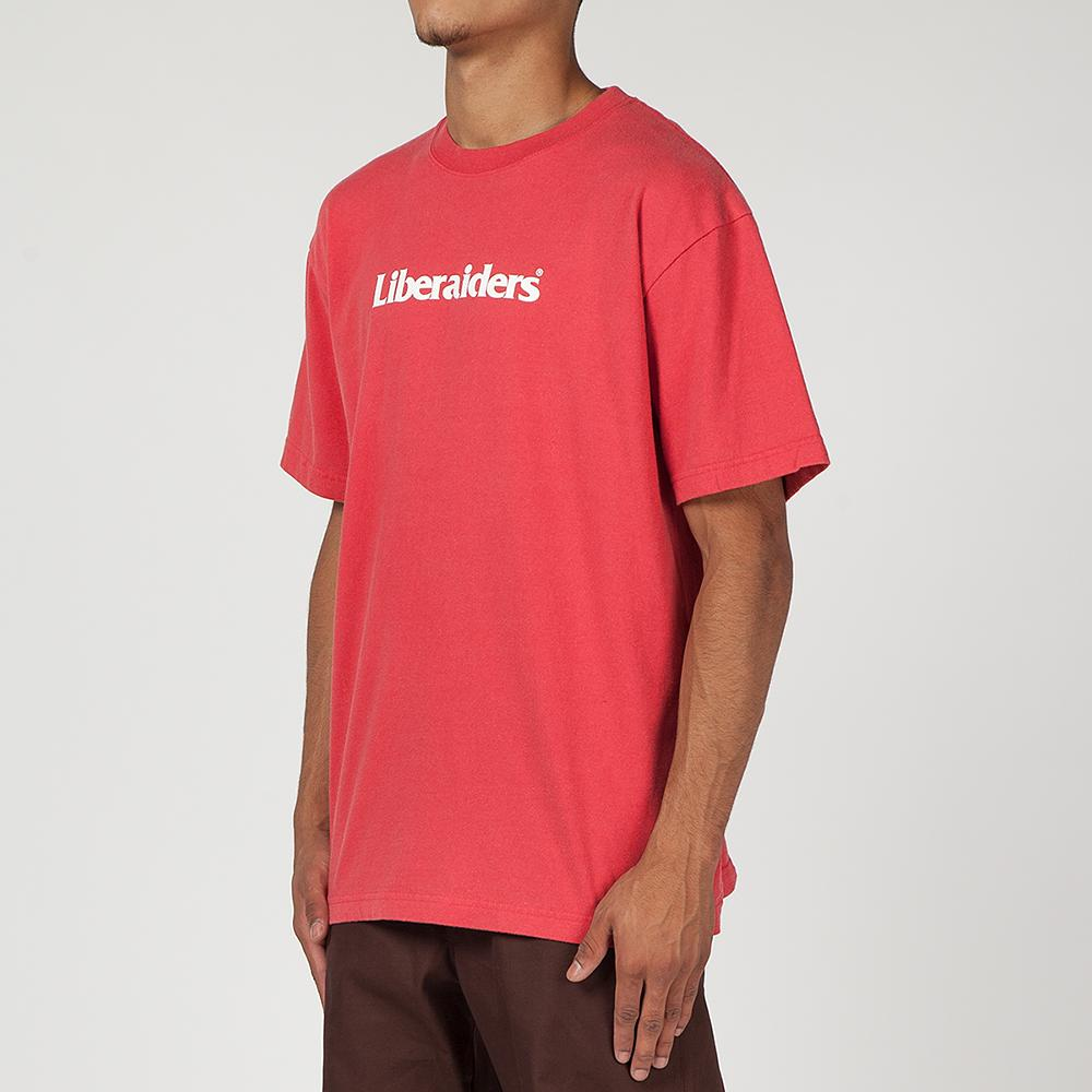 LIBERAIDERS LOGO T-SHIRT / RED