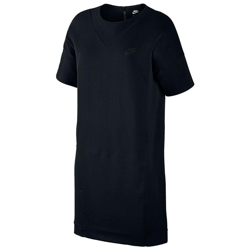 NIKE WOMEN'S SPORTSWEAR TECH FLEECE DRESS / BLACK - 1