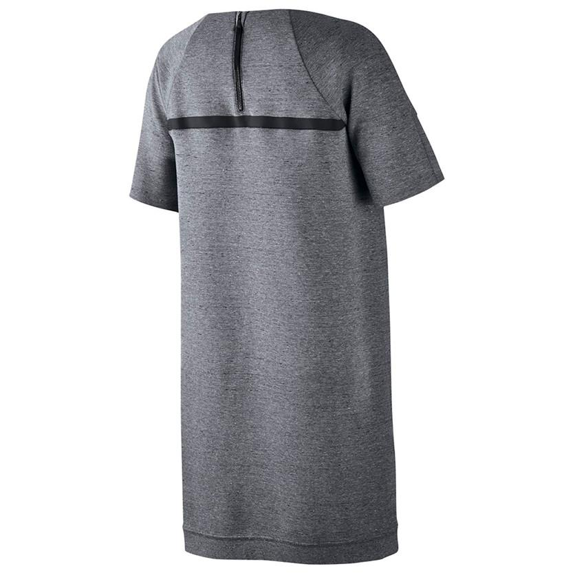 NIKE WOMEN'S SPORTSWEAR TECH FLEECE DRESS / CARBON HEATHER - 2