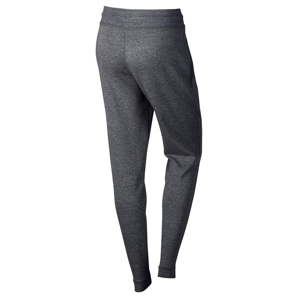 NIKE WOMEN'S SPORTSWEAR TECH FLEECE PANT / CARBON HEATHER - 2