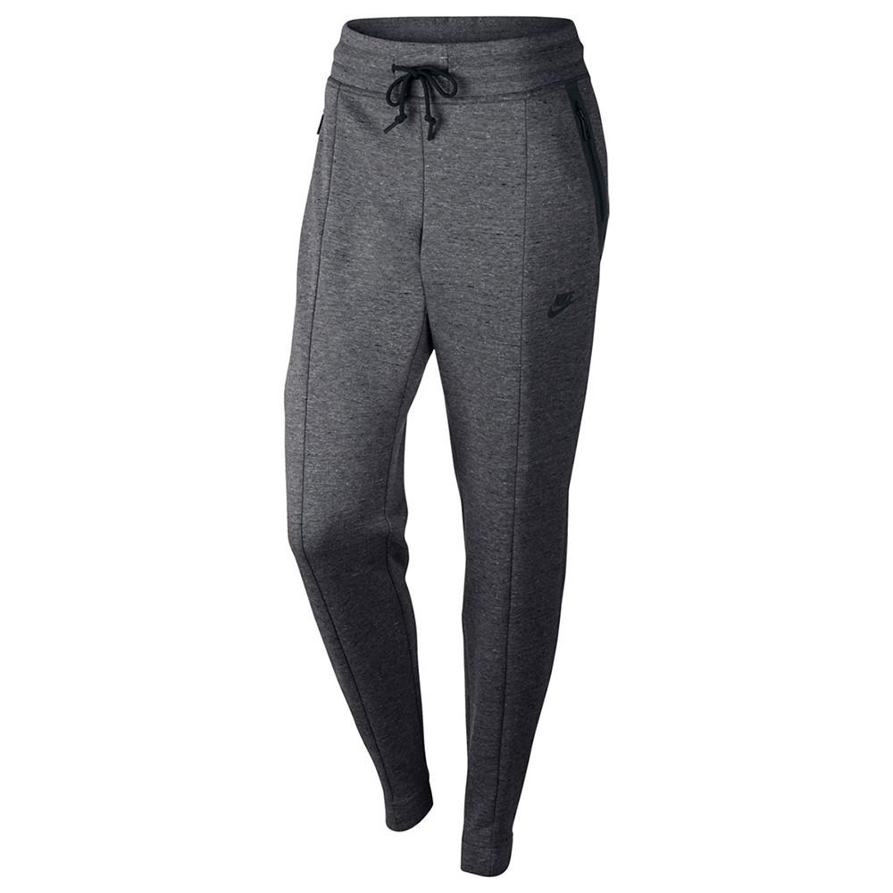 NIKE WOMEN'S SPORTSWEAR TECH FLEECE PANT / CARBON HEATHER - 1