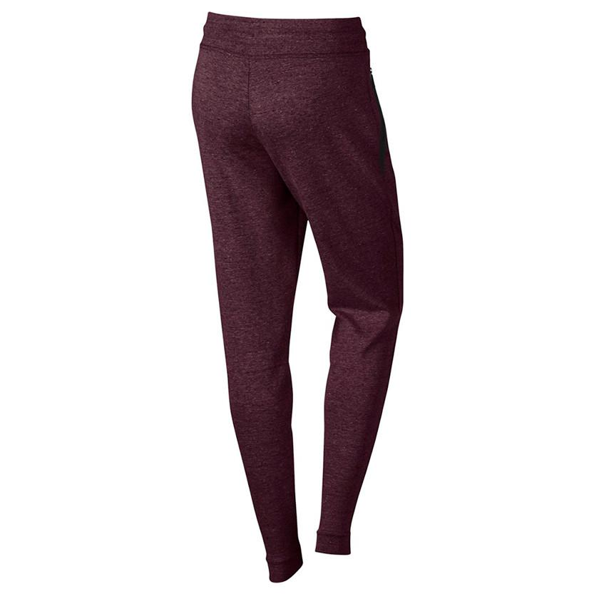 NIKE WOMENS SPORTSWEAR TECH FLEECE PANT / NIGHT MAROON - 2