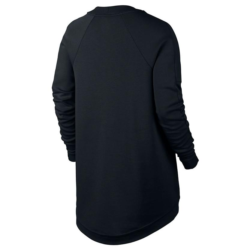 NIKE WOMENS SPORTSWEAR TECH FLEECE TOP / BLACK - 2