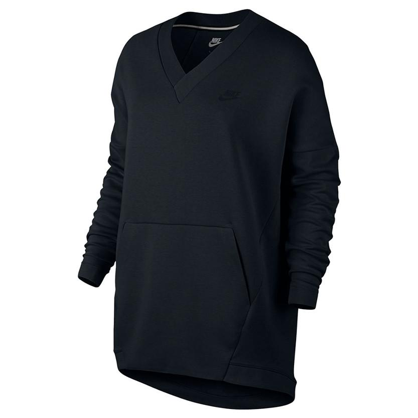 NIKE WOMENS SPORTSWEAR TECH FLEECE TOP / BLACK - 1