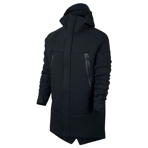 NIKE SPORTSWEAR TECH FLEECE PARKA / BLACK - 1