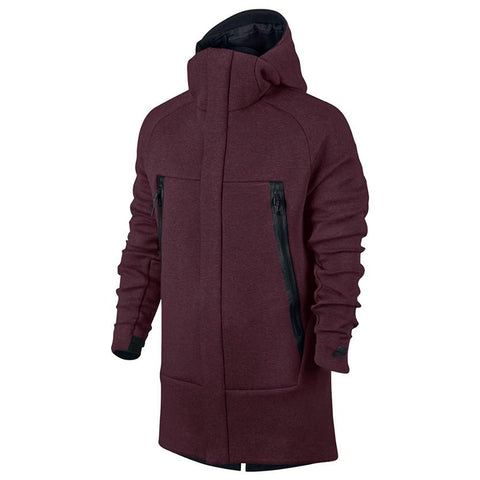 NIKE SPORTSWEAR TECH FLEECE PARKA / NIGHT MAROON - 1