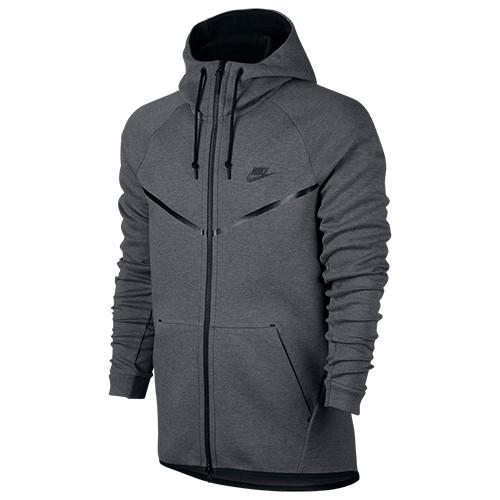 Style code 805144-091. NIKE SPORTSWEAR TECH FLEECE WINDRUNNER ZIP HOODY / CARBON HEATHER - 1