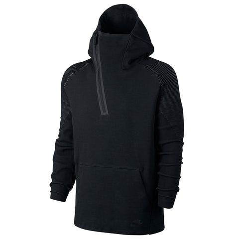 NIKE SPORTSWEAR TECH FLEECE ZIP HOODIE / BLACK