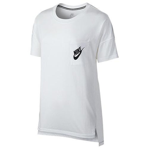 NIKE WOMEN'S SIGNAL T-SHIRT / WHITE - 1