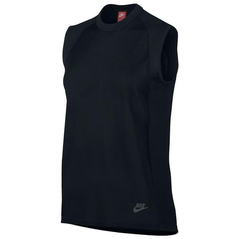 NIKE WOMEN'S SPORTSWEAR TECH KNIT TOP / BLACK - 1