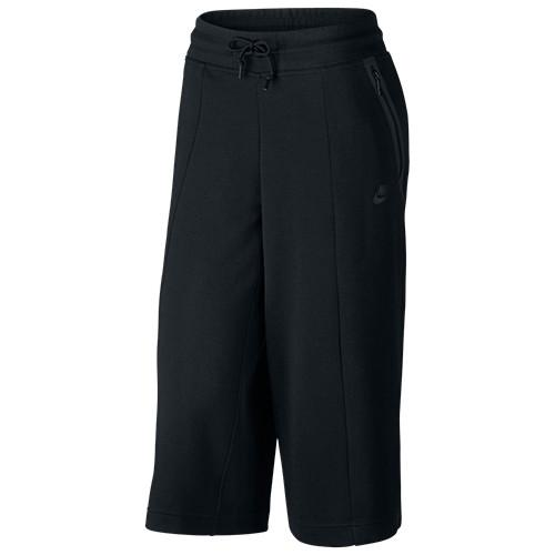 NIKE WOMEN'S SPORTSWEAR TECH FLEECE CAPRI / BLACK - 1
