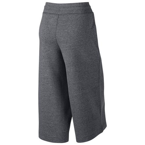 NIKE WOMEN'S SPORTSWEAR TECH FLEECE CAPRI / CARBON HEATHER - 2