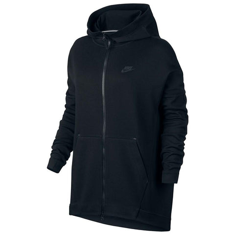 NIKE WOMENS SPORTSWEAR TECH FLEECE CAPE / BLACK - 1