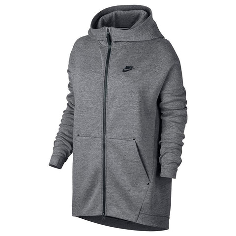 NIKE WOMEN'S SPORTSWEAR TECH FLEECE CAPE / CARBON HEATHER - 1