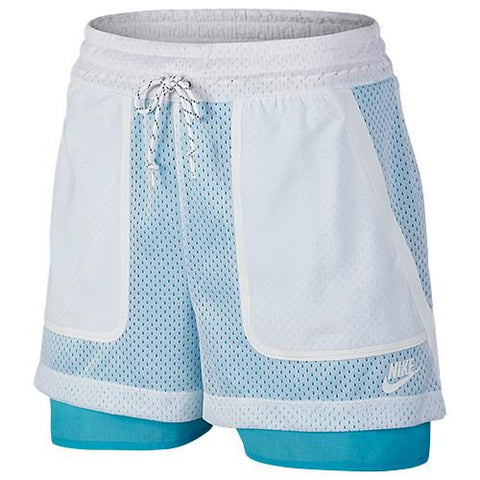 NIKE WOMEN'S PREMIUM PACK SHORT / WHITE - 1