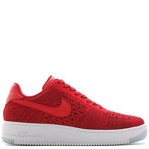 NIKE AIR FORCE 1 FLYKNIT LOW / UNIVERSITY RED - 1
