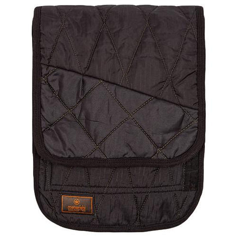 MAHARISHI VINTAGE MILITARY SURPLUS TRIQUILTED SCARF / BLACK - 1