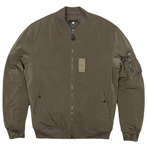 MAHARISHI MA-1 LUX FLIGHT NYLON JACKET / OLIVE - 1