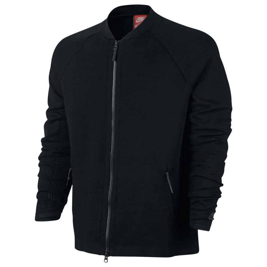 NIKE SPORTSWEAR TECH KNIT JACKET / BLACK . Style code 832178-010