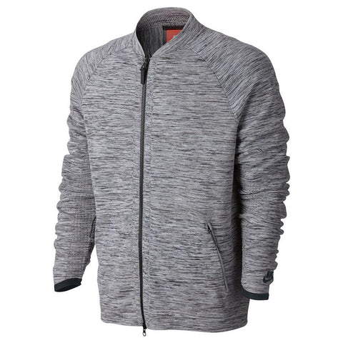 Style Code 832178-060. NIKE SPORTSWEAR TECH KNIT BOMBER JACKET / CARBON HEATHER