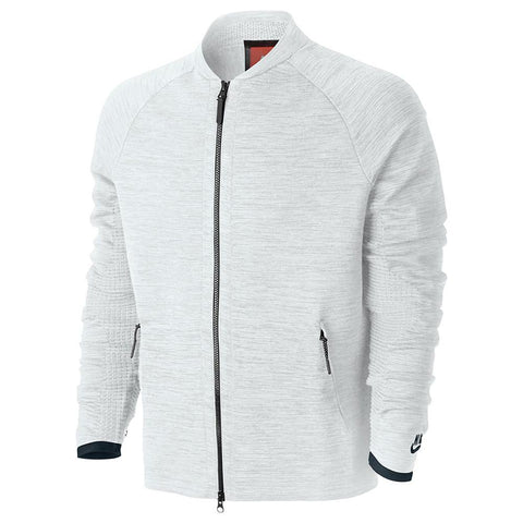 NIKE SPORTSWEAR TECH KNIT JACKET WHITE / PURE PLATINUM