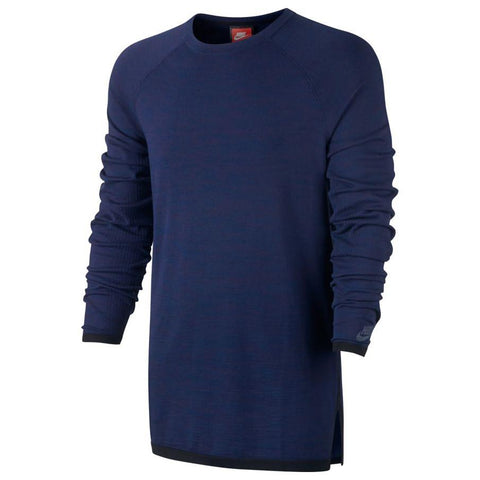 NIKE SPORTSWEAR TECH KNIT CREW / BINARY BLUE .  style code 832182-429