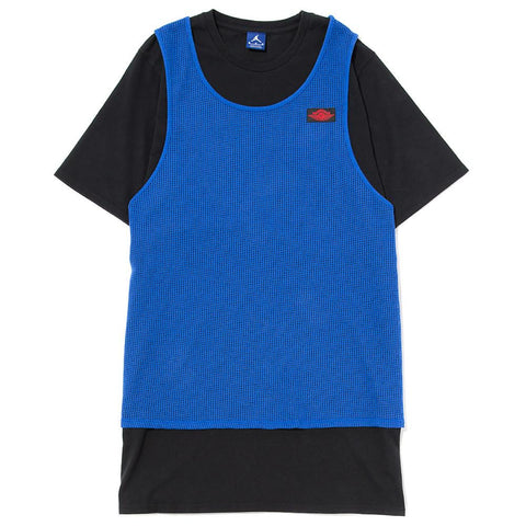 style code 884271-480. JORDAN BLUE LABEL TIER ZERO MESH OVERLAY T-SHIRT / GAME ROYAL
