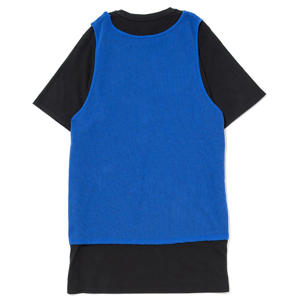 JORDAN BLUE LABEL TIER ZERO MESH OVERLAY T-SHIRT / GAME ROYAL