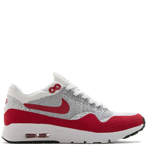 NIKE WOMEN'S AIR MAX 1 ULTRA FLYKNIT WHITE / UNIVERSITY RED - 1
