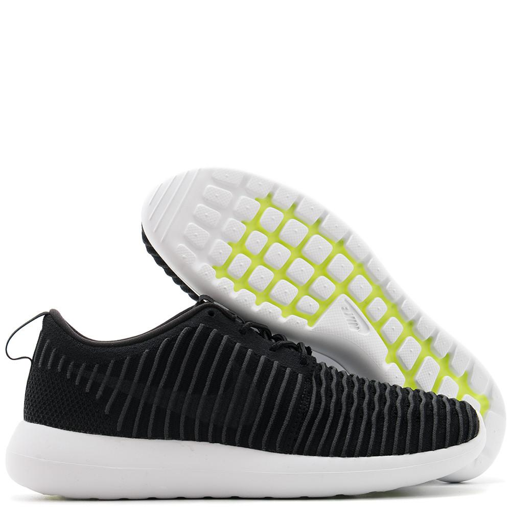 NIKE ROSHE TWO FLYKNIT BLACK / DARK GREY - 2