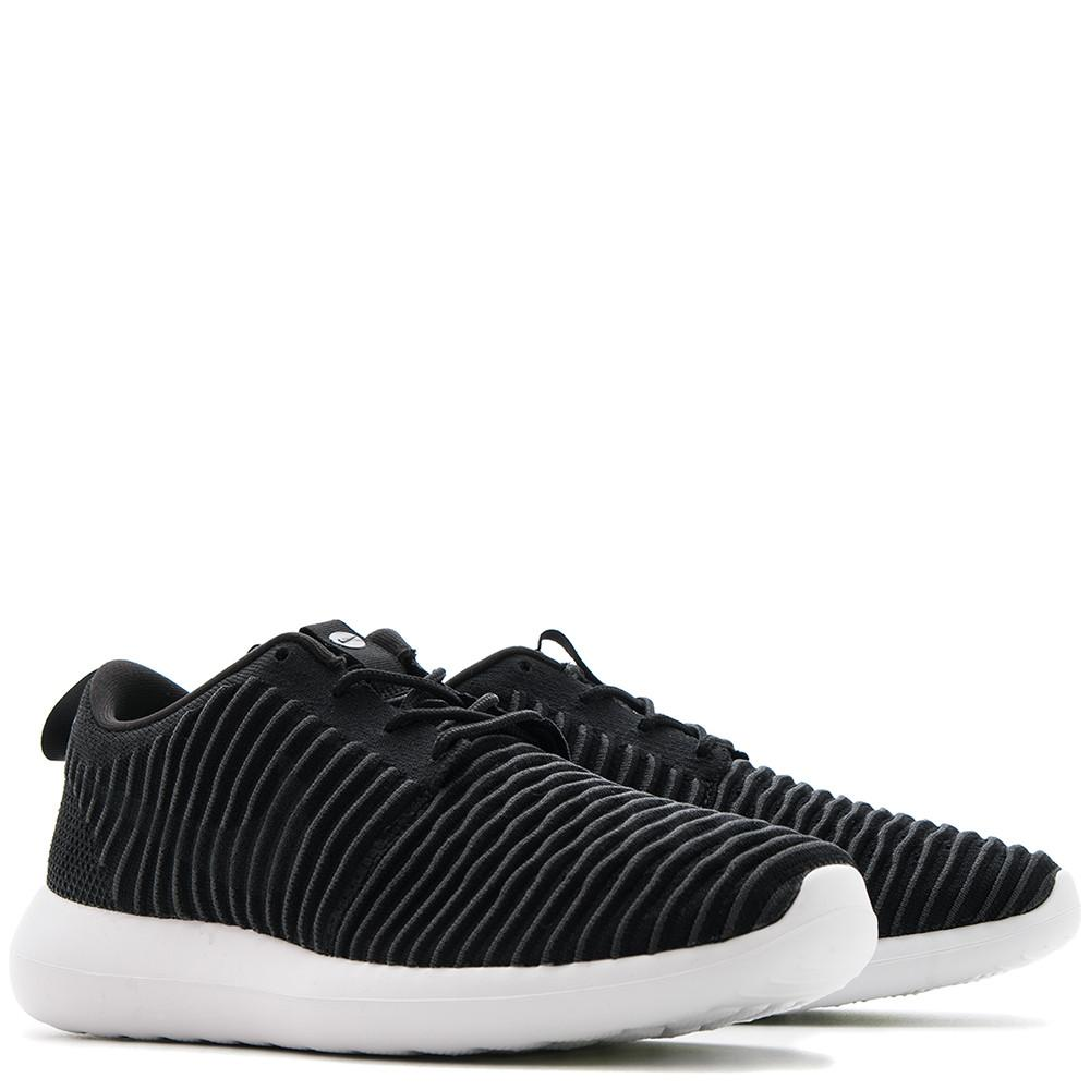 NIKE ROSHE TWO FLYKNIT BLACK / DARK GREY - 3