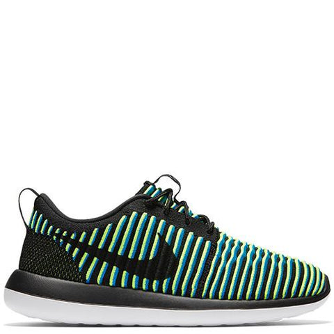 NIKE WOMEN'S ROSHE TWO FLYKNIT BLACK / BLACK - PHOTO BLUE - 1