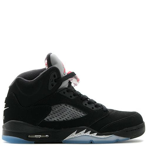 JORDAN 5 RETRO OG BG BLACK / FIRE RED - METALLIC SILVER - 1